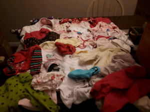 Lot of 3-6 month baby girl clothes