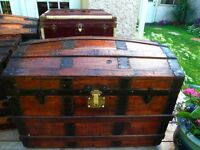 Lovley dome-top antique coffre malle antique trunk