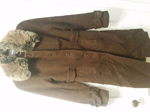 Mexx brown wool/cashmere blend winter coat