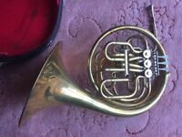 French horn. Full double b flat and f.