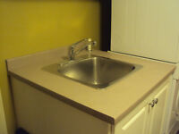 """2 pc Laundry room countertops, 10"""" deep sink,faucets & sprayer!"""