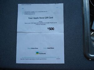 $500.00 Apple $