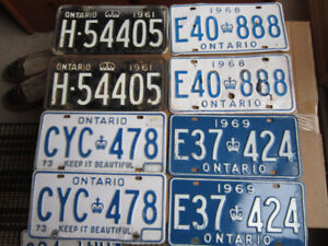 Vintage Car License Plates Pairs Old AND NOS new $45. Pair