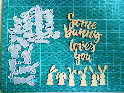 Easter Metal Cutting Dies Some Bunny Pattern DIY Paper Crafts Knife Mold Cutters - Halloween Paper Cutting Patterns