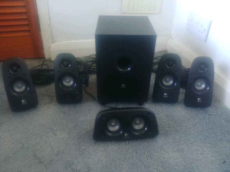 a6c681337e7 Logitech z506 5.1 Surround Speaker Sound System with 3D Stereo Audio,