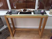Oak console /side table