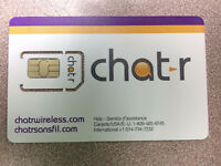 Chat-r wireless carte Sim ,Bon prix, iphone, samsung chat-r plan