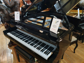 Feurich F162 baby grand piano black polyester for sale