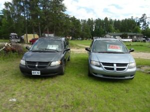 2 Dodge Grand Caravans for Sale for Parts As-Is