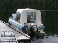 18.5 ft boat with outboard