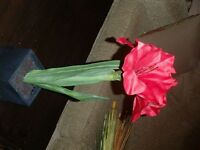 2 ARTIFICIAL XMAS FLOWERS---NEW!