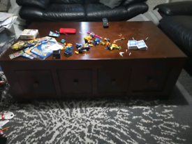 Large coffee table and chest cube tables