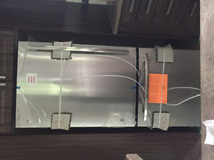 Brand new stainless steel refrigerator