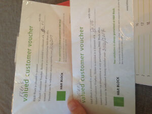 $160 gift certificate for H&R Block