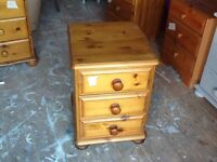 BEDSIDE TABLE PINE NEEDS TLC