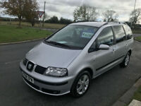 SEAT ALHAMBRA TDI 7 SEATS FSH CAMBELT FIND ONE CLEANER
