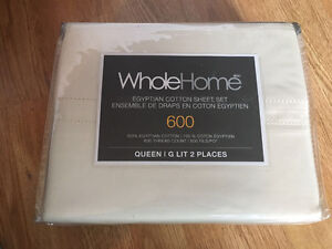 New 600 TC Egyptian Cotton sheet Set, Ivory Queen for 80