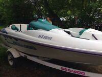 1996 seadoo challenger boat and trailer