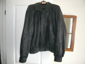 Leather Jacket with zip out lining