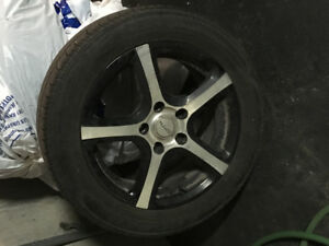 Spyn Black Rims 5x115 w used summer tires