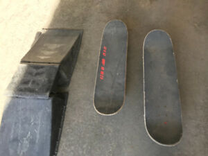 Skate boards and ramp