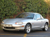2000 MAZDA MX-5 1.8i CONVERTIBLE HARD TOP- RED/BLACK LEATHER