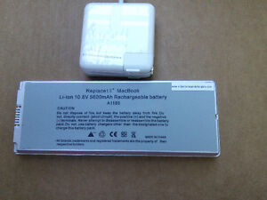 MacBook battery and charger