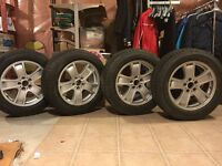 Original BMW 255 55R18 RIMs and Pirelli winter tires