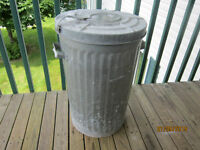 Metal Trash Can With Lid For Sale