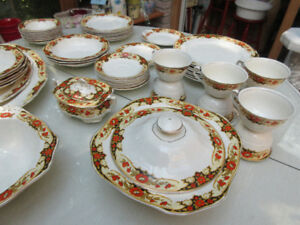 "ALFRED MEAKIN DINNER SET  ""Dunkirk 1933"""