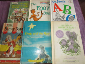 6 Vintage Early Readers - Barney Beagle,Dr Seuss.....foot book