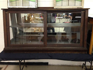 ANTIQUE 1910 DISPLAY CABINET  6 ft x 3 ft - PARKER PICKERS -