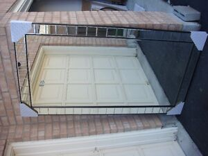 HUGE EXTRA LARGE MIRROR WITHSQUARE CUT GLASS FRAME 4 X 7 FT