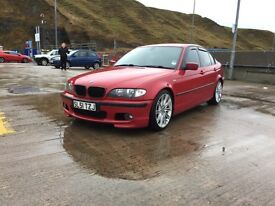 BMW 330d, M-Sport, Imola Red, Manual, Black Leather - Rare Car