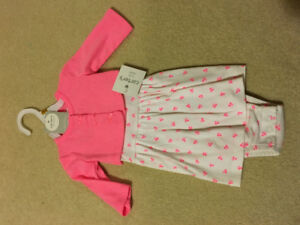 Newborn size dress with matching coat brand new still with tag