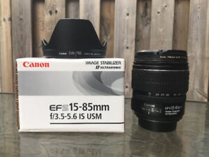Canon EF-S 15-85mm Lens - Owned by Professional Videographer