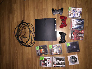 120 GB PS3, Controllers, Games
