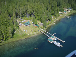 Cabin For Sale Greene Point BC (north of Campbell River)