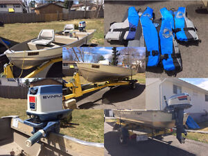 14 FT. Shallow Smokercraft Boat and Motor Package