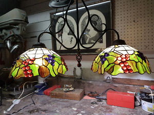 Vintage Stained Glass Light