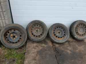 4 Audi winter tires and rims