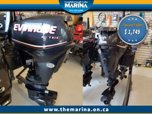 2011 25 HP Evinrude Outboard Motor