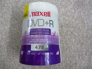 Sealed Spindle of 100 Blank DVD +R Discs - Maxell London Ontario image 1