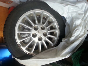 Set of four Kumho tires and rims