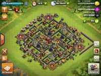 Village Clash of Clan Niveau 122 TH10