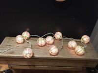 Vintage shabby chic string lights garden Christmas pine bulb style