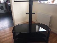 Black ash glass TV stand