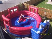 $199 Inflatable Jousting Set, Can Be Used by Teens & Adults Too!