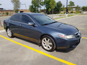 2005 Acura TSX 4 dr sedan Gray with low kms