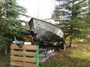 14' Motorboat with trailer